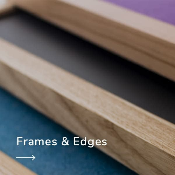 frames and edges for sundeala notice boards and whiteboards